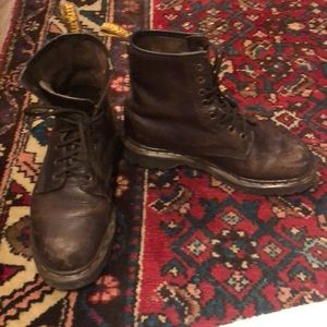 Genuine leather doc martens